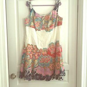 9 West Flair Floral Dress - Multi Color